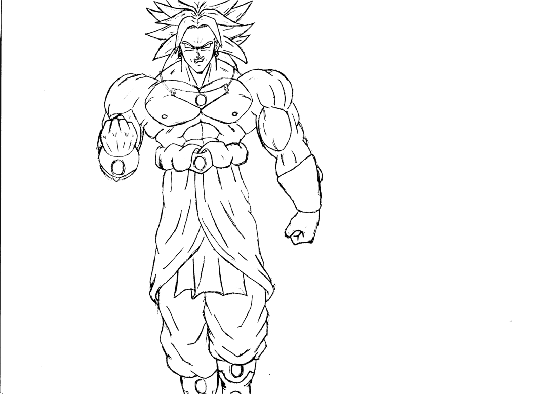 broly coloring pages - photo#8